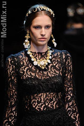 Кружева из модной коллекции Dolce & Gabbana