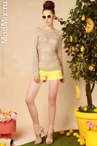 Ажурная кофта с шортами из модной коллекции Alice + Olivia