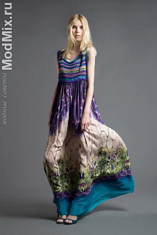 Модный сарафан из коллекции Alberta Ferretti
