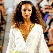 Сочетание цвета лайма с белым из модной коллекции Oscar de la Renta