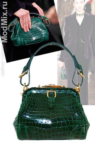 На фото модная сумка из коллекции Ralph Lauren