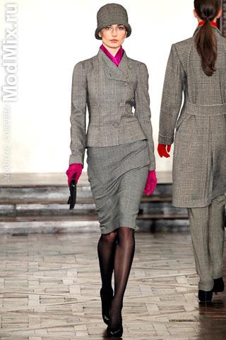 Серый костюм из модной коллекции Ralph Lauren