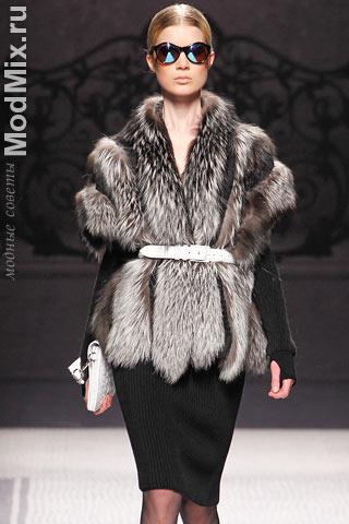 Меховой жилет из модной коллекции Alberta Ferretti