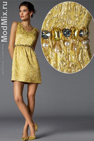 Вечернее платье из модной коллекции Dolce & Gabbana