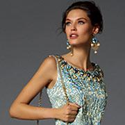 Модное голубое вечернее платье из коллекции Dolce & Gabbana