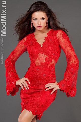 Модное красное платье из коллекции Jovani