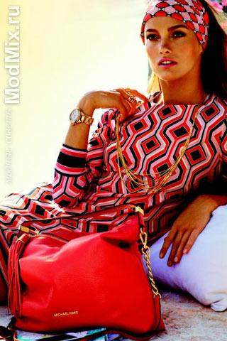 Модная одежда с геометрическими узорами