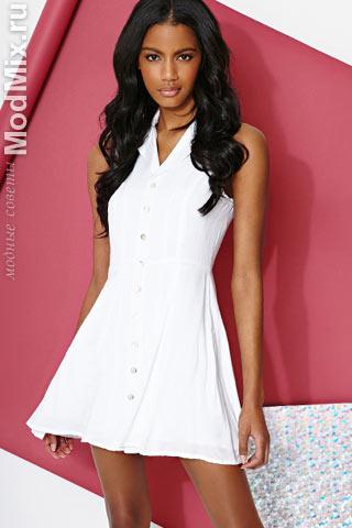 Белое платье на лето