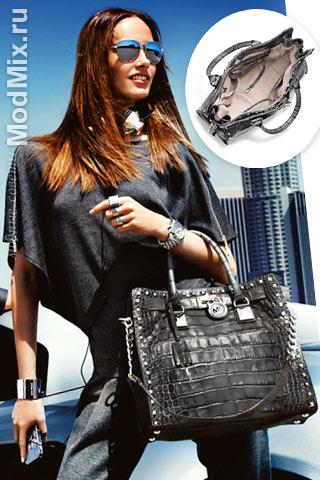 Модная сумка из кожи под крокодила