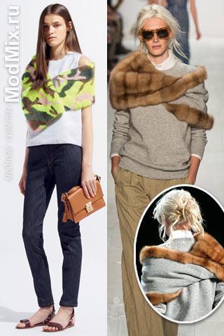 Меховые шарфы из коллекций Valentino, Michael Kors