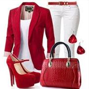 С чем носить красное