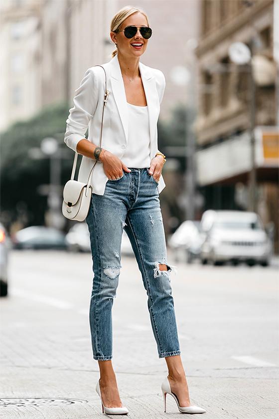 Белый пиджак (блейзер)