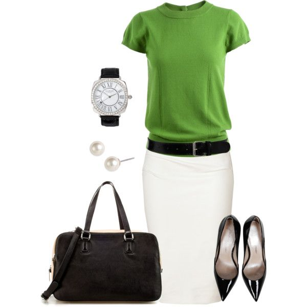 Фото, с чем носить белую юбку-карандаш