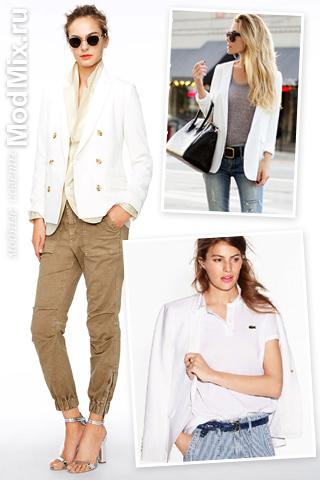 Фото, с чем носить белый пиджак