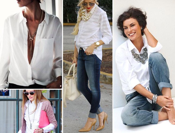 Аксессуары к белой рубашке