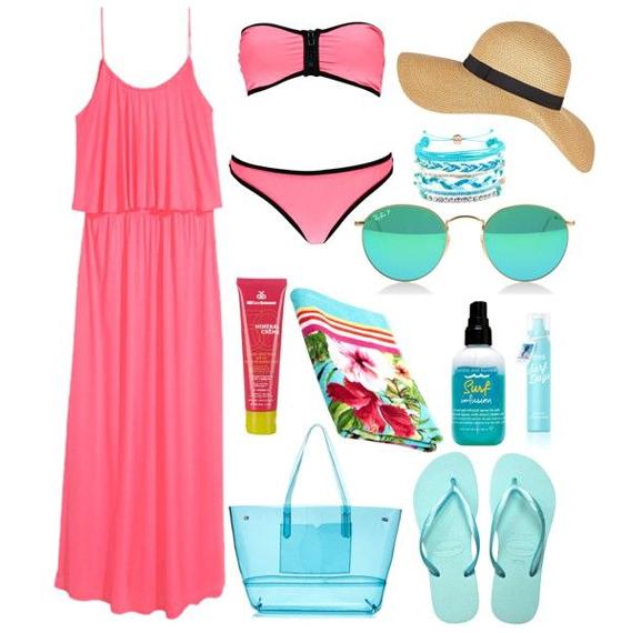 Пляжная сумка с сарафаном