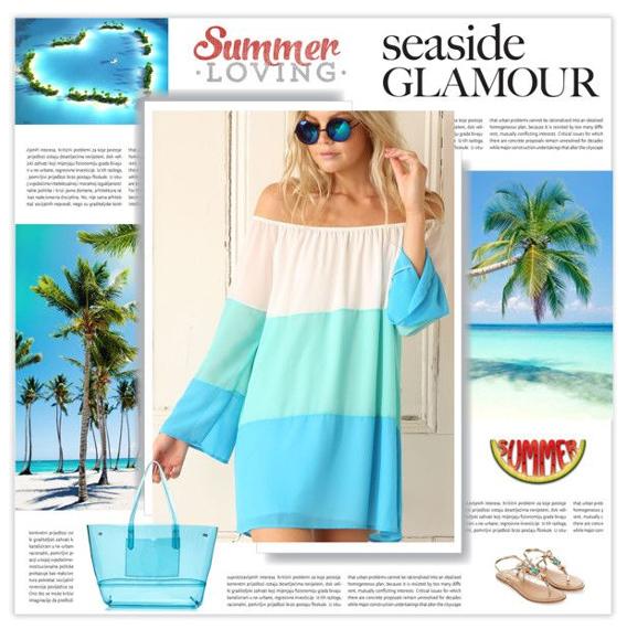 Пляжная сумка с платьем