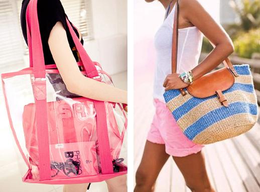 На фото пляжные сумки
