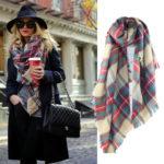 Клетчатый шарф – стильный тренд